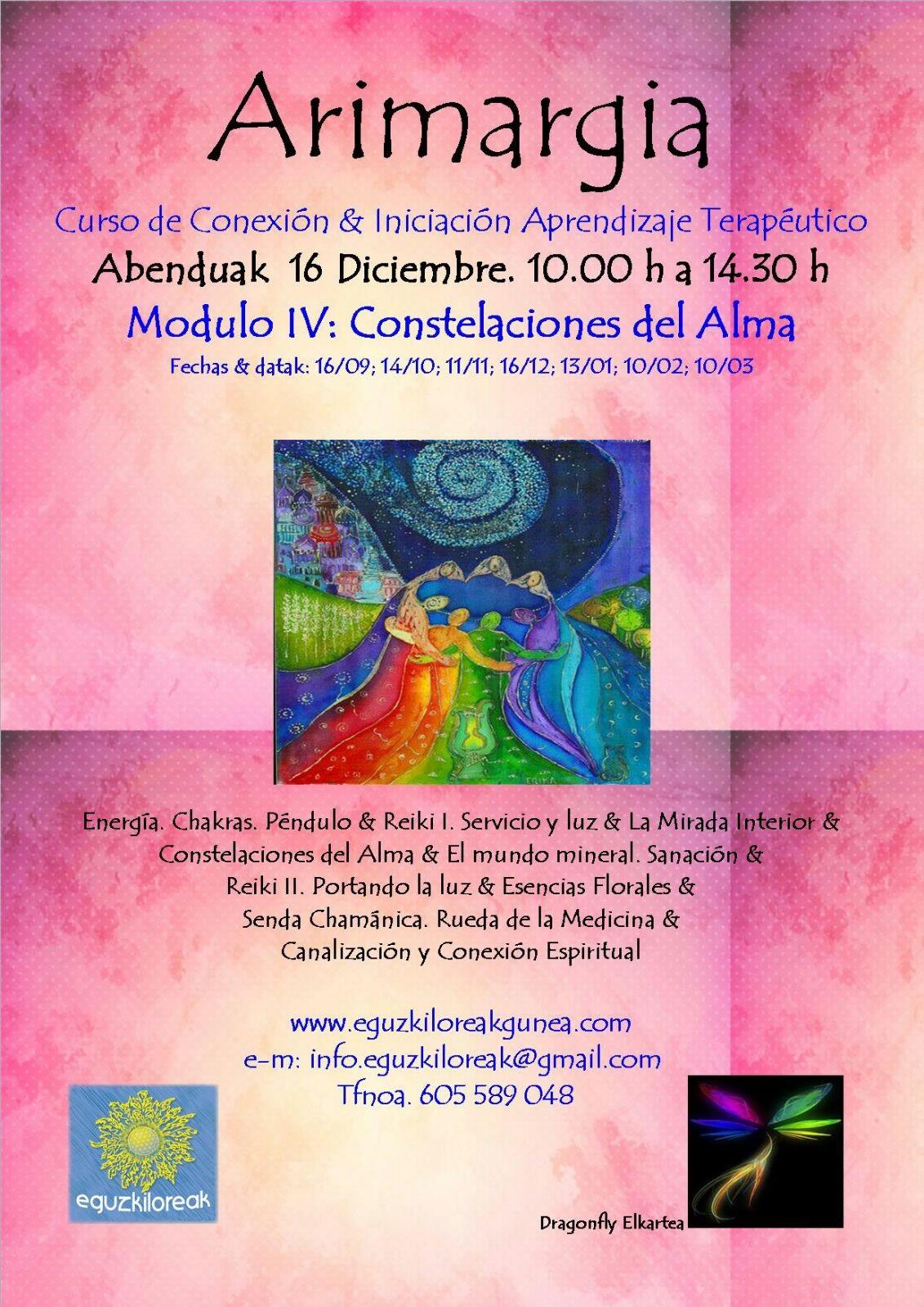 ARIMARGIA. Curso de conexión & iniciación aprendizaje terapeútico el Sábado 16 de Diciembre