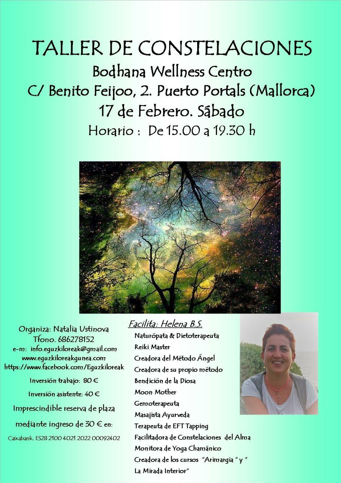 TALLER DE CONSTELACIONES EN MALLORCA EL 17 DE FEBRERO. FACILITA: HELENA BS
