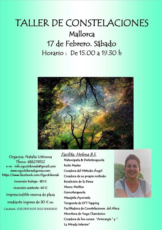 TALLER DE CONSTELACIONES EN MALLORCA EL 17 DE FEBRERO