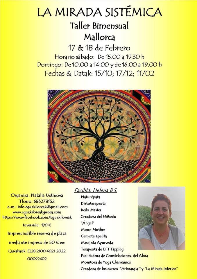LA MIRADA SISTÉMICA. TALLER BIMENSUAL MALLORCA EL 17 y 18 DE FEBRERO
