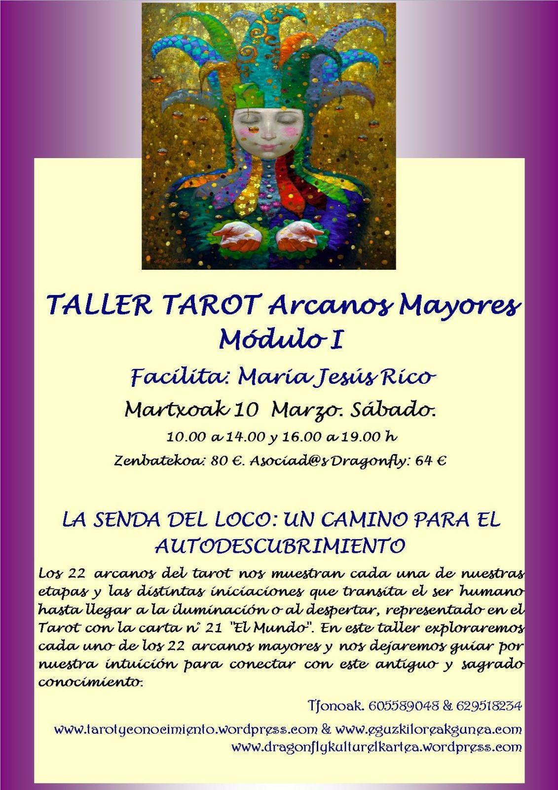 TALLER DE TAROT ARCANOS MAYORES CON MARÍA JESÚS RICO EL SÁBADO 10 DE MARZO